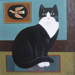 Braques Cat Painting