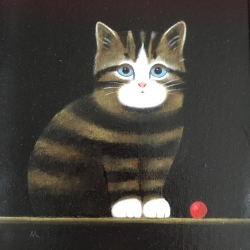 Kitten with Ball Painting