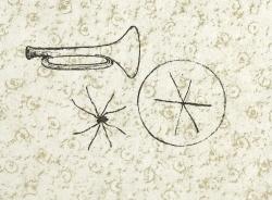 Tandis qu'une araignee dans sa toile Print