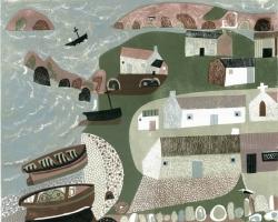 Coastal Village Print