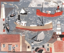 A busy Harbour Print