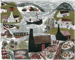 The North Sea Print by Melvyn Evans