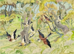 Birds and Trees Painting