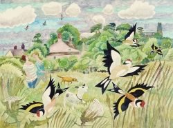 Summer and Finches, Blythburgh Painting