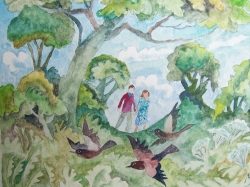 Walking in the Countryside Painting