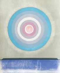 Circle (Blue to Pink, Red Centre) from Circles Series Print