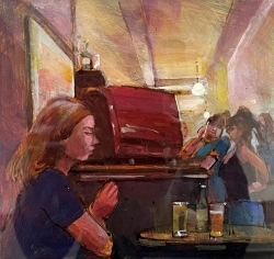 Girls at the Bar Painting