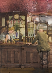 At Home in the Argyll Arms Painting