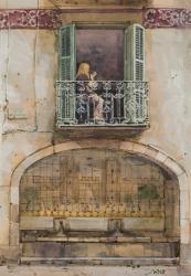 Barcelona Balcony Painting