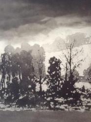 Lakeside, Winter Print