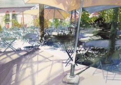 Cafe in the Park Painting