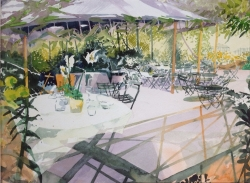OpeningTime, Garden Cafe Painting