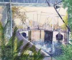 Amsterdam Waterway Painting
