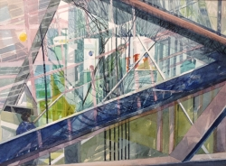 Dockland Reflections Painting