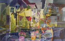 Cafe Reflections Painting