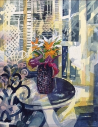 Black Vase Painting
