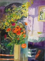 Conservatory Flowers Painting