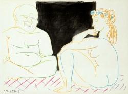 Two Nudes, La Comedie Humaine Print