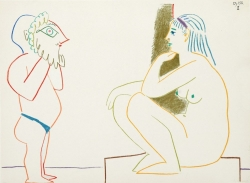Mask and Nude - La Comedie Humaine Print