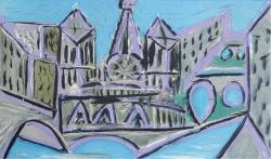 Notre Dame II -  Dans L'Ataleir de Picasso Suite Print