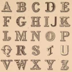 Appropriated Alphabet 1 Print