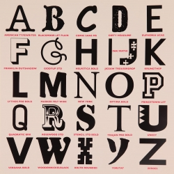 Appropriated Alphabet 3 Print