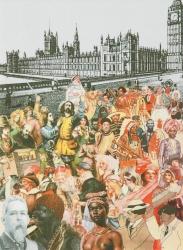World Tour Series: London, Multi Ethnic Crowd Print