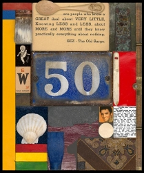 50 - from Wooden Puzzle Series Print