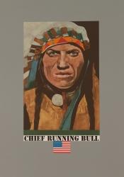 Chief Running Bull Print