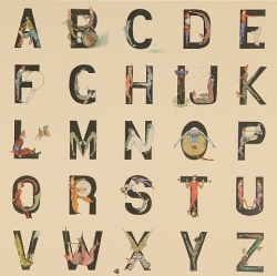 Appropriated Alphabet 4 Print