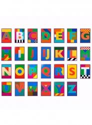 Dazzle Alphabet Print