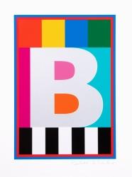 Dazzle Alphabet B Print