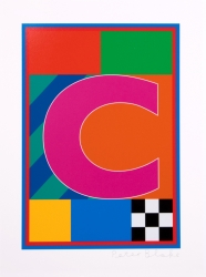 C from the Dazzle Alphabet Print