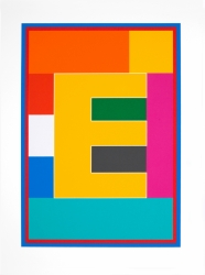 Dazzle Alphabet E Print