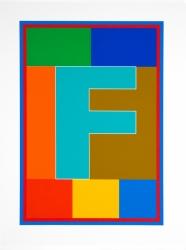 Dazzle Alphabet F Print
