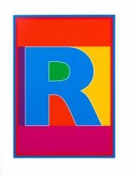 Dazzle Alphabet R Print