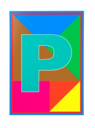 P from the  Dazzle Alphabet Print