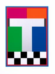 T from Dazzle Alphabet Print