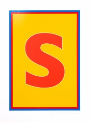 S from Dazzle Alphabet Print