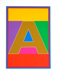 A from Dazzle Alphabet Print