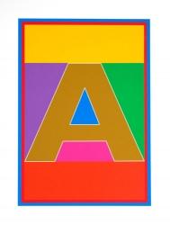 Dazzle Alphabet A Print