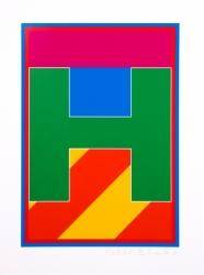Dazzle Alphabet H Print