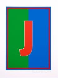 Dazzle Alphabet J Print