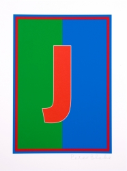 J from the Dazzle Alphabet Print