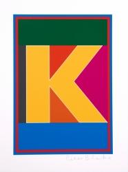 Dazzle Alphabet K Print