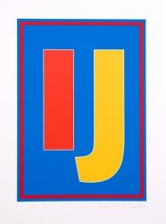 Dazzle Alphabet I J Print