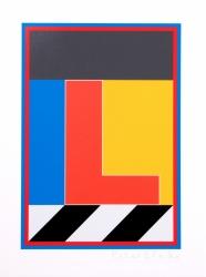 Dazzle Alphabet L Print