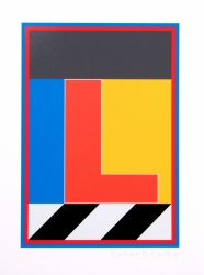 L from the Dazzle Alphabet Print