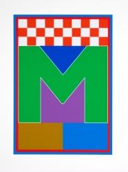 Dazzle Alphabet M Print