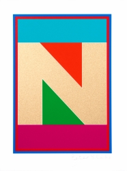 N from the Dazzle Alphabet Print